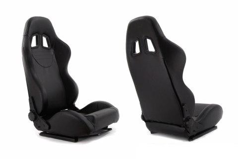 Fotel sportowy MONZA+ Skóra Black - GRUBYGARAGE - Sklep Tuningowy